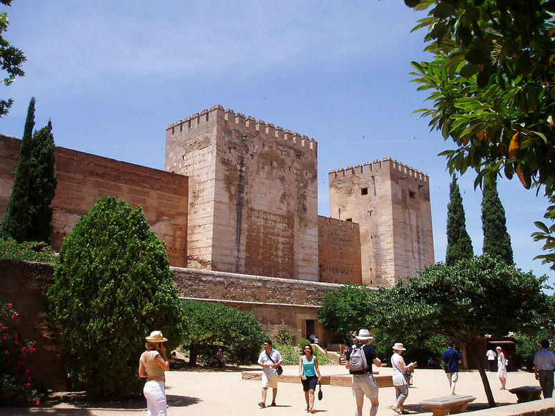 The Alcazaba beside the Alhambra