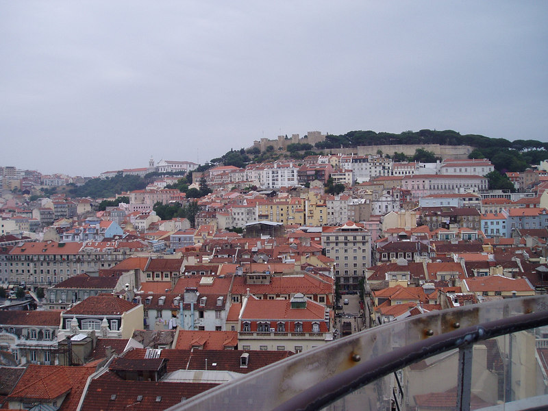 "Views from the ""Elevador"" off Baixa, Lisbon"
