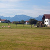 Scenery from train, as we approached Füssen, Germany