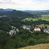 outskirts of Füssen in the far distance