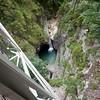 The Pöllatschlucht i waterfall gorge, veiwed from the Mariennbrücke footbridge at Neuschwannstein castle