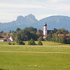 Scenery from train, as we approached Füssen, Germany. The mountains are part of the Allgäu, a range in the Bavarian Alps.