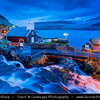 Europe - Faroe Islands - Faroes - Føroyar - Færøerne - Island group & archipelago under the sovereignty of the Kingdom of Denmark situated between the Norwegian Sea and the North Atlantic Ocean - Vágar Island - Bour - Bøur - Shores of the tiny traditional village with a black sand beach at the Sorvagsfjorour - Sørvágsfjørður -