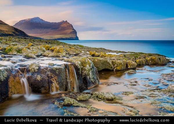 Europe - Faroe Islands - Faroes - Føroyar - Færøerne - Island group & archipelago under the sovereignty of the Kingdom of Denmark situated between the Norwegian Sea and the North Atlantic Ocean - Island of Viðoy - Vidoy Island - Viderø - Norðoyar Region - Viðareiði - The northernmost settlement in the Faroe Islands
