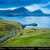 Europe - Faroe Islands - Faroes - Føroyar - Færøerne - Island group & archipelago under the sovereignty of the Kingdom of Denmark situated between the Norwegian Sea and the North Atlantic Ocean - Vágar Island - Sorvagsfjorour - Sørvágsfjørður