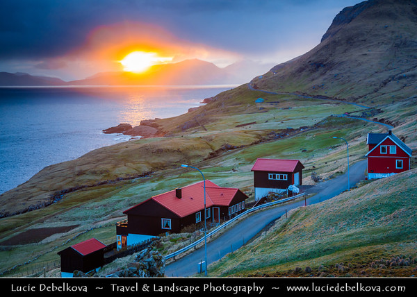 Europe - Faroe Islands - Faroes - Føroyar - Færøerne - Island group & archipelago under the sovereignty of the Kingdom of Denmark situated between the Norwegian Sea and the North Atlantic Ocean - Island of Streymoy - Dramatic landscape on West part of the island