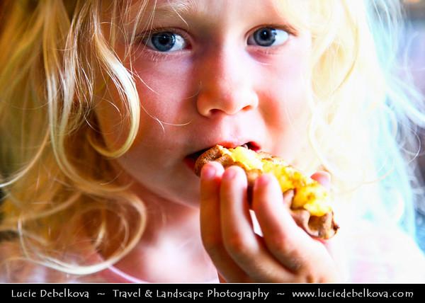 Finland - Helsinki - Carelian Pies - Children Eating Carelian Pies