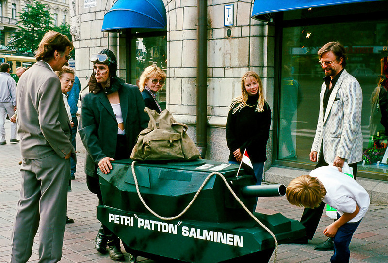 """Petri Salminen is a not uncommon name in Finland. Assuming that this person is in fact Petri Salminen, he went on to a successful career as a pop singer  <a href=""""http://www.youtube.com/watch?v=crso-JQGJGc"""">http://www.youtube.com/watch?v=crso-JQGJGc</a>) or partner in an international consulting firm  <a href=""""http://www.salminen-tikka.fi/news.htm"""">http://www.salminen-tikka.fi/news.htm</a>) or Product Manager for a paper company  <a href=""""http://www.upm.com/FI/MEDIA/Uutiset/Pages/UPM-published-the-Book-of-Senses-001-to-10-helmi-2011-18-57.aspx"""">http://www.upm.com/FI/MEDIA/Uutiset/Pages/UPM-published-the-Book-of-Senses-001-to-10-helmi-2011-18-57.aspx</a>) or maybe none of the above.<br /> <br /> What he was doing this day I have no idea, since (1) he was obviously busy with other customers and (2) I have zero facility in the Finnish language which, as previously noted, is most closely related to Hungarian; I suspect because of the ancient pearl and amber trade routes between the Baltic and the Bosphorus."""