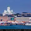 Finland - Helsinki - Helsingfors - Kauppatori and the Lutheran C