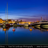 Finland - Helsinki - Helsingfors - Night View of Harbor at Dusk (Caputred at 1AM during long bright Scandinavian nights)