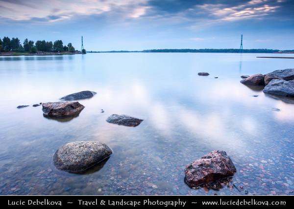 Finland - Helsinki - Helsingfors - Stones on Shores of Baltic Se