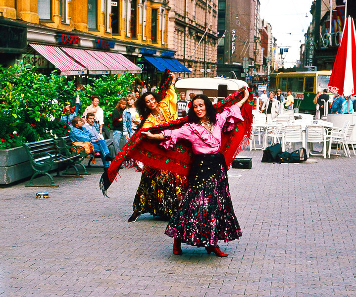 Gypsy dancers are reputed to be the first street dancers in history, blending their original Indian folkloric traditions with the cultures and styles of the countries they traveled through