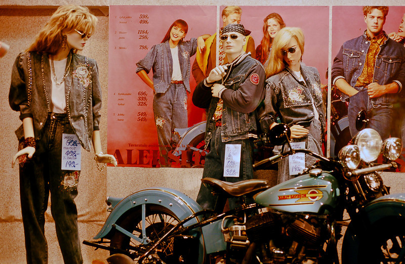 This was evidently the year that Finland discovered American biker culture and denims.