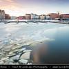 Europe - Finland - Helsinki - Helsingfors - Frozen sea shore wit