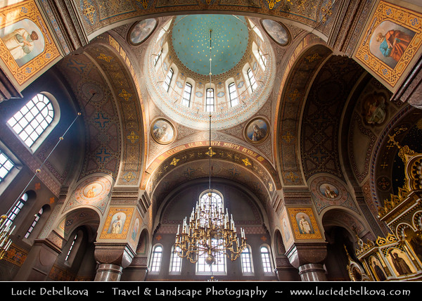 Finland - Helsinki - Helsingfors - Interior of Russian Orthodox Church called Uspensky (Uspenski) Cathedral