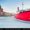 Europe - Finland - Helsinki - Helsingfors - Russian Orthodox Church - Uspensky (Uspenski) Cathedral - Iconic landmark above sea shore