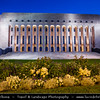 Finland - Helsinki - Helsingfors - Evening View of Parliament Bu