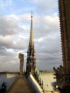 Spire on the Notre Dame Cathedral