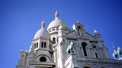 "The Basilica of the Sacré Cœur (Basilique du Sacré Cœur, ""Basilica of the Sacred Heart"") is a Parisian Roman Catholic church and landmark that crowns the butte Montmartre (Montmartre butte), the highest point in Paris, and is one of the city's most visited monuments."