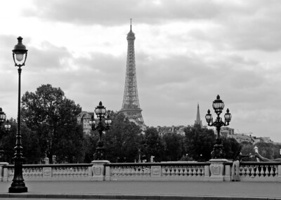 The  view from Pont Alexander III  of Eiffel Tower, Paris, France