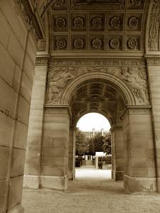 Outside the Louvre, Paris France