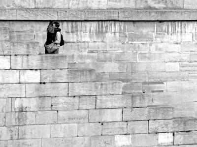 Lovers on the Seine , Paris France