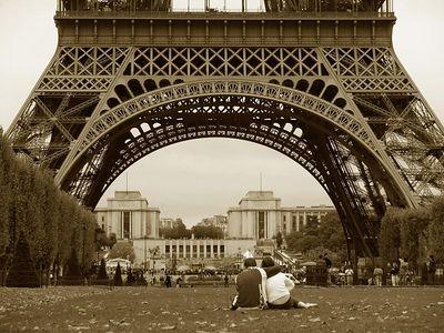 The Lovers Eiffel Tower, Paris, France