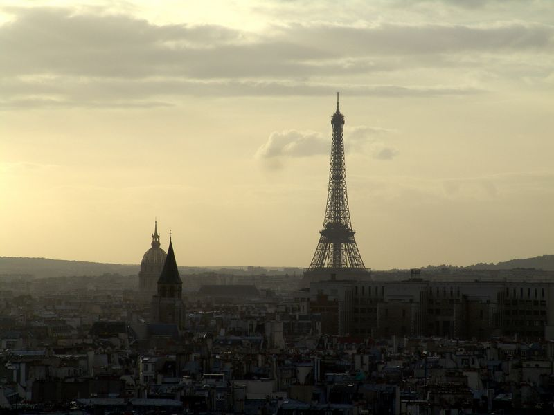 View of the Eiffel Tower from the Notre Dame Cathedral