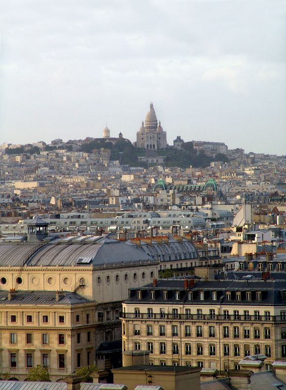 View of Sacre Coer from Notre Dame Cathedral