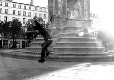 Skateboarder , Paris France