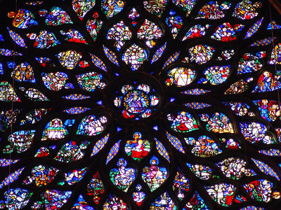 Stained glass in the Saint Chapelle