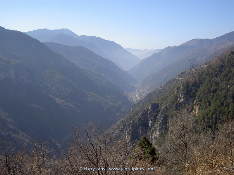 view towards the south, the Roya Valley