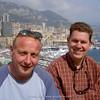 (l -> r) John Mitchel & Harry Jans near Port de Monaco