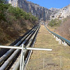 Water pipes near road to Granile (Habiat Primula allionii)