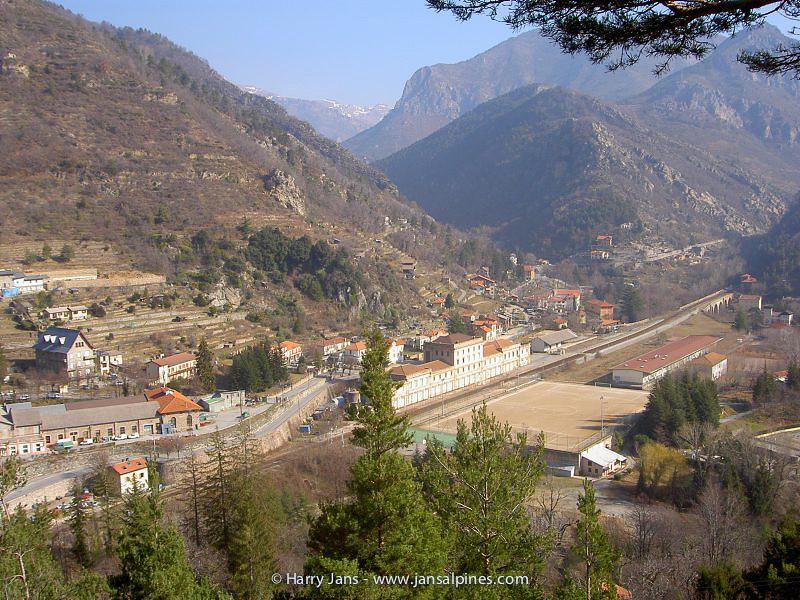 view towards St. Dalmas-de-Tende (Hotel Terminus)