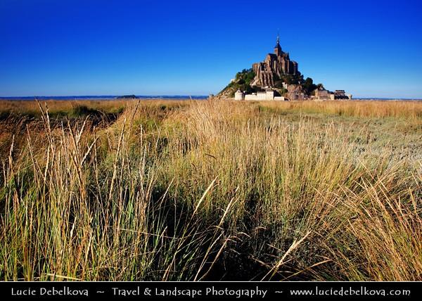 Europe - France - Normandy - Mont Saint-Michel - Saint Michael's Mount - UNESCO World Heritage Site - One of France's most recognisable landmarks