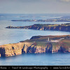 Europe - France - Bretagne - Brittany - Côtes-d'Armor - Cap Fréhel - Peninsula with famous large lighthouse surrounded mainly by cliffs on shores of Atlantic Ocean
