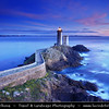 Europe - France - Bretagne - Brittany - Plouzané - Phare du Petit Minou lighthouse in the roadstead of Brest standing in front of the Fort du Petit Minou