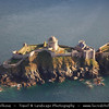 Europe - France - Bretagne - Brittany - Côtes-d'Armor - Fort-la-Latte - Castle of La Latte - Impressive fortified castle located about 4 km southeast of Cap Fréhel on rocky shores of Atlantic Ocean