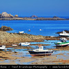 Europe - France - Bretagne - Brittany - Côte de Granit Rose - Pink Granite Coast - Stretch of coastline in the Côtes d'Armor - Pointe de l'Arcouest north of Paimpol - Ferry point to famous Ile de Bréhat - a must do on any tour of Brittany