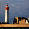 Europe - France - Bretagne - Brittany - Finistere - Pointe Saint Mathieu - Lok Mazé - Headland located near Le Conquet in the territory of the commune of Plougonvelin - Lighthouse overlooking an extremely important, strategic stretch of coast connecting the Atlantic to the bay of Brest