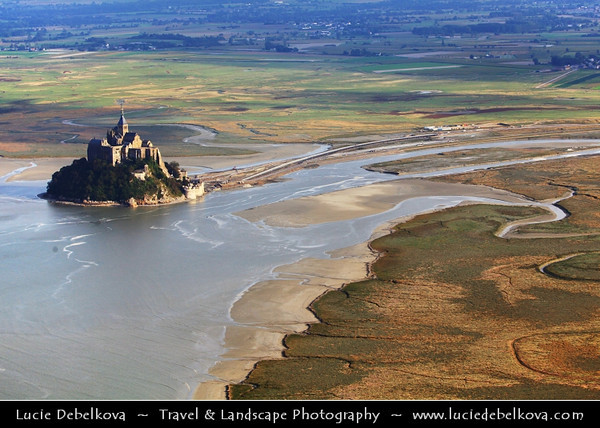 Europe - France - Normandy - Mont Saint-Michel - Saint Michael's Mount - UNESCO World Heritage Site - One of France's most recognisable landmarks & one of the most famous pilgrimage sites in all Christendom