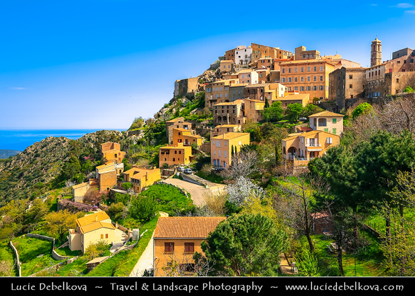 Europe - France - Corsica Island - Corse - Haute-Corse - Corsican North Coast on shores of Mediterranean Sea - Hinterland of Calvi - Mountain villages - Speloncato
