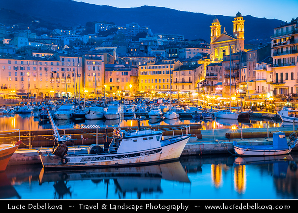 Europe - France - Corsica Island - Corse - Haute-Corse - Corsican North-East Coast on shores of Mediterranean Sea - Bastia - Marina du Vieux Port - Bastia Old Port -