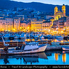 Europe - France - Corsica Island - Corse - Haute-Corse - Corsican North-East Coast on shores of Mediterranean Sea - Bastia - Marina du Vieux Port - Bastia Old Port -
