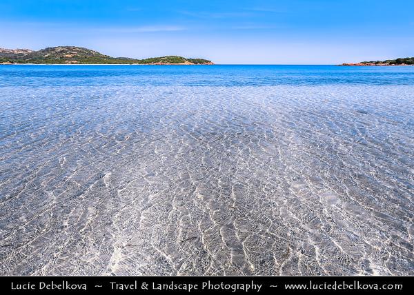 Europe - France - Corsica Island - Corse - Corse-du-Sud - Corsican South-East Coast on shores of Mediterranean Sea - Porto Vecchio - Plage de Rondinara - Rondinara beach