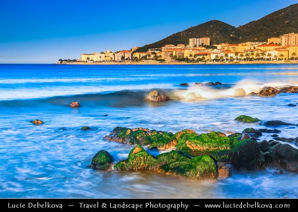 Europe - France - Corsica Island - Corse-du-Sud - West Coast on Mediterranean Sea - Ajaccio Bay - Golfe d'Ajaccio - Ajaccio - Aiacciu - Island's Capital famous as the birthplace of Napoleon