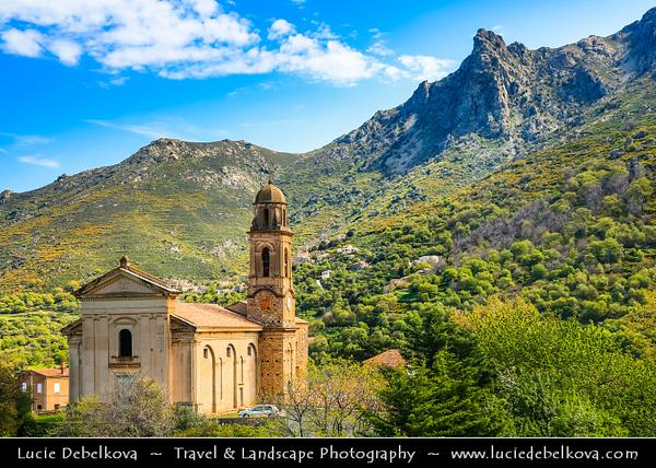 Europe - France - Corsica Island - Corse - Haute-Corse - Corsican North Coast on shores of Mediterranean Sea - Hinterland of Calvi - Mountain villages - Feliceto