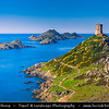 Europe - France - Corsica Island - West Coast - Ajaccio Bay North Coast - Golfe d'Ajaccio - Sanguinary Islands - Iles Sanguinaires - Isuli Sanguinari - Several beautiful islands in French Mediterranean coast