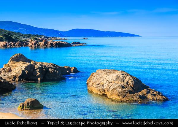 Europe - France - Corsica Island - Island's West Coast on shores of Mediterranean Sea - Road from Ajaccio to Calvi